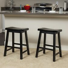 Denise Austin Home Toluca Saddle Wood Counter Stool (Set of 2) & Solid Wood Bar Stools | eBay islam-shia.org