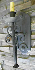@ CUSTOM 1920S STYLE RUSTIC WROUGHT IRON SPANISH REVIVAL WALL SCONCE LAMP LIGHT