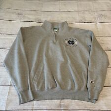 Notre Dame Champion Quarter Zip Fleece Sweatshirt XXL 2XL