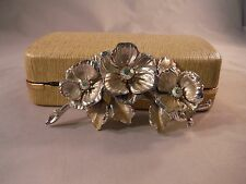 Vintage Coro Leaf Brooch Silver Toned Mint Condition Jewlery Box D