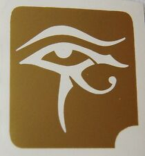 GT62 Body Art Temporary Glitter Tattoo Stencil Eye of Ra