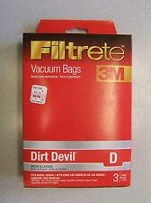3M DIRT DEVIL D MICRO ALLERGEN VACUUM BAGS 3PC LOT #65701A