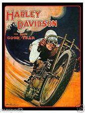 Motorcycle  Poster/Print -HARLEY DAVIDSON