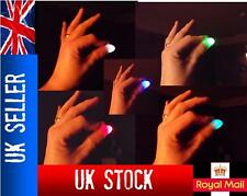 2x Magic Light up thumbs fingers MULTI-COLOURED flashing trick appearing light