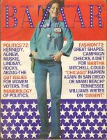 JAN 1972 HARPERS BAZAAR vintage womans fashion magazine POLITICS