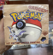 Pokemon Fossil 1st Edition Booster Box WOTC EMPTY NO CARDS Superb Condition