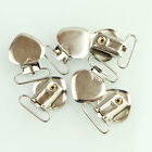 10 Pcs Metal Holder Insert Pacifier Heart Shape Plastic Suspender Clips Mitten