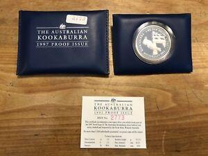 1 Dollar Australien Kookaburra 1997 PP 1oz Silber Stückzahl 3.500