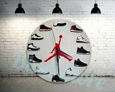 "New Handcrafted 12"" 2D Jordan Sneakers clock quartz nike supreme off white yeezy"