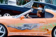 Vin Diesel Dodge Charger Paul Walker Toyota Supra Coupe car racing Mini Poster