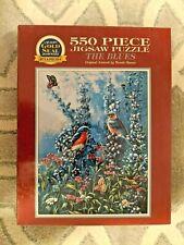 NEW The Blues WANDA MUNN 550 Piece Jigsaw Puzzle birds butterflies BITS & PIECES