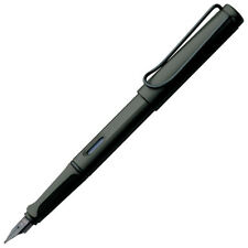 Lamy Safari Fountain Pen - Charcoal Black - Fine Point - L17F - Brand New in Box