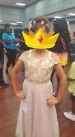 Beautiful Rare Editions Girl's Natural Pageant Formal Dress Size 14
