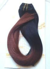 """Ombre 20""""-22"""" Black/Burgunday Luxury Clip In Remy Human Hair Extensions Thick"""