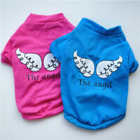 Cute Pet Dog Cat Clothes Angel Wings Print Vest Puppy Chihuahua T-shirt  Costume