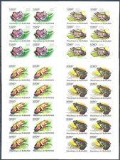Burundi 2011 Fauna. Frogs, 4 FULL SHEETS. IMP. (10 sets). MNH