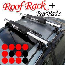 Universal fit Roof Top Rack Cross Bar Kayak Snowboard Carrier + Pad