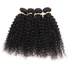 4 bundles Peruvian Virgin Remy Hair kinky curly Human Hair Weave Extensions 200g