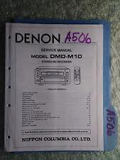 Denon dmd-10 service manual original repair book stereo mini disk recorder