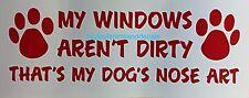 Funny Dog Decal Pet Slobber Nose Art K9 Paw Print Car Truck Window Vinyl Sticker