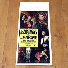 GLI ARTIGLI INVISIBILI DEL DR MABUSE locandina poster Lex Barker Poliziesco A26