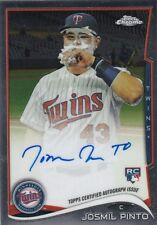 2014 TOPPS CHROME BASEBALL JOSMIL PINTO ON CARD AUTO RC