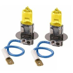 2x H3 Halogen 3000K 100W Fog/Driving Light Bulbs Bright Yellow Xenon Replacement