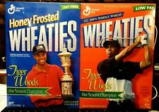 1998 Tiger Woods Wheaties Boxes Attached and Unopened - New & Sealed
