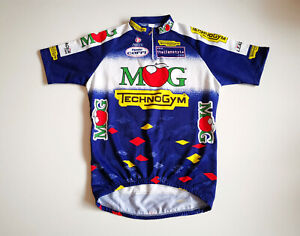 VINTAGE MEN'S NALINI MOG TECHNOGYM CYCLING SHIRT JERSEY MAGLIA ITALIA SIZE 5