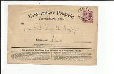 Preussen V. / DUISBURG 20.5.71, K2 auf Pracht-Reichsp.-Vorl.-NDP-Corresp.-Karte