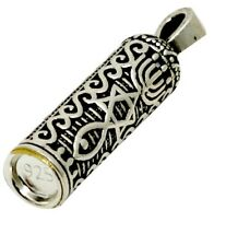 Mezuzah Pendant with Messianic Symbol Silver 925  With Necklace