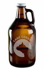 Cane Corso Dog Breed Pride Hand Etched 64oz Beer Wine Growler