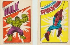 1979 General Mills Cereal Amazing Spider-Man & Incredible Hulk Cereal Stickers