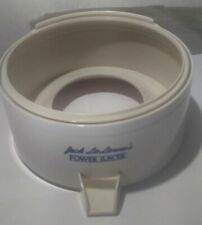 Jack LaLanne Power Juicer Receptacle Spout Replacement Part White Cl-003Ap