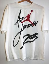 Air Jordan 23 White Retro Tee T-Shirt Men's Size XXL 2XL Used Condition