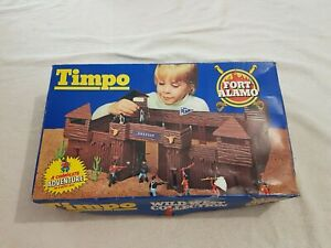 Vintage 7th Cavalry Fort Alamo Outpost Wild West Collection (Timpo Toys, 1970s)