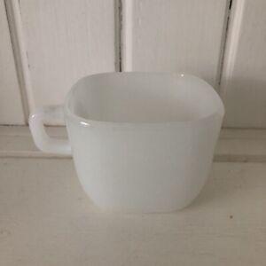 Vintage Glasbake White Lipton Square Coffee Tea Cup Mug