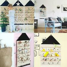 16/24 Pockets Calendar Storage Bag Wall Hanging Alphanumeric Canvas Bag*HOT