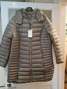JOULES WOMENS CANTERBURY LONG LUXE PADDED COAT. BNWT. COLOUR. SLATE. SIZE. 18