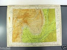 US ARMY AIR FORCE MAP AERONAUTICAL PILOT CHART WW2 1944 SULAIMAN RANGE INDIA 441