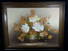 "Original Floral Painting by Belavika, 16"" x 19"" framed, acrylic on canvas"