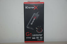 Creative Sound BlasterX G1 7.1 Portable HD Gaming USB DAC Sound Card SB1710 Neww