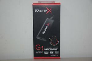 Creative Sound BlasterX G1 7.1 Portable HD Gaming USB DAC Sound Card SB1710 Neww