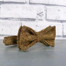Boys Tweed Bow Tie - Brown Birdseye