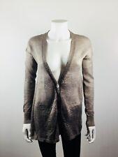 CHAN LUU Metallic Gray Cardigan Sweater Size X Small