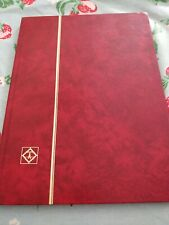 Lighthouse Red Stamp Album Stockbook 8 Pages 16 Sides