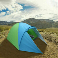 4-Person Double Layer Family Camping Tent,Outdoor Instant Cabin Tent for Hiking