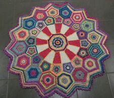 hand crochet blanket / throw - carousel design