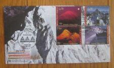 MOUNTAINS MOUNT FUJI JAPAN WEISSHORN SWITZERLAND KAMET INDIA  SET 2002 FDC