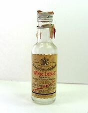 WHITE LABEL DEWAR'S  SCOTCH WHISKY Empty Miniature LIQUOR BOTTLE 1/10 Pint